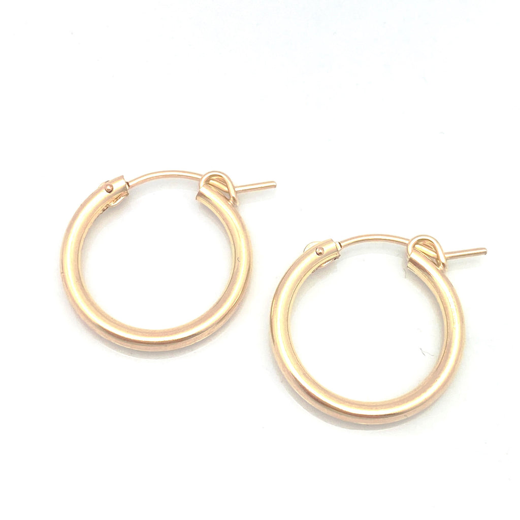 GOLD Elements:  MOD Gold Hoops