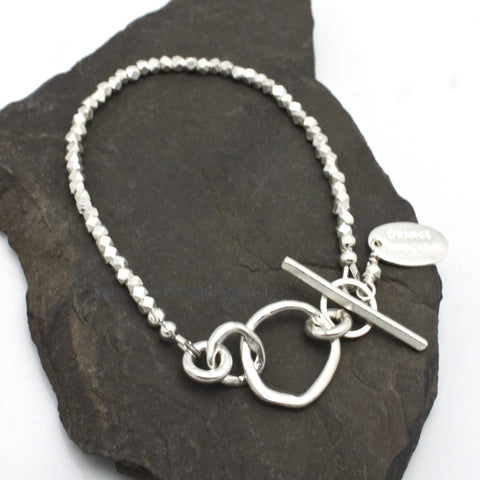Mother Daughter Bracelet - Fine Silver Petite Links