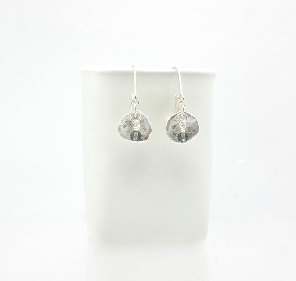 Arctic Blossoms:  Slate Aura Earrings