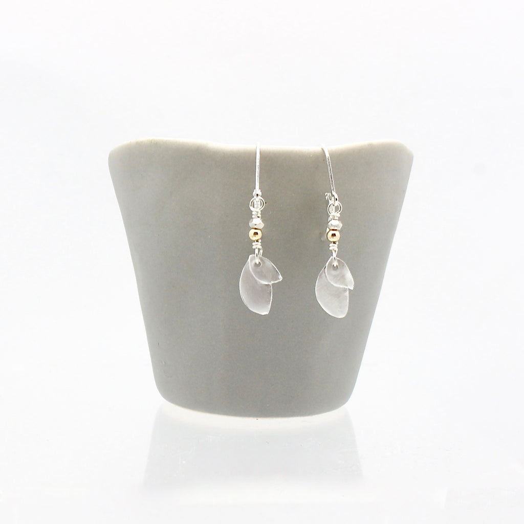 Athena Silver Olive Leaf Earrings