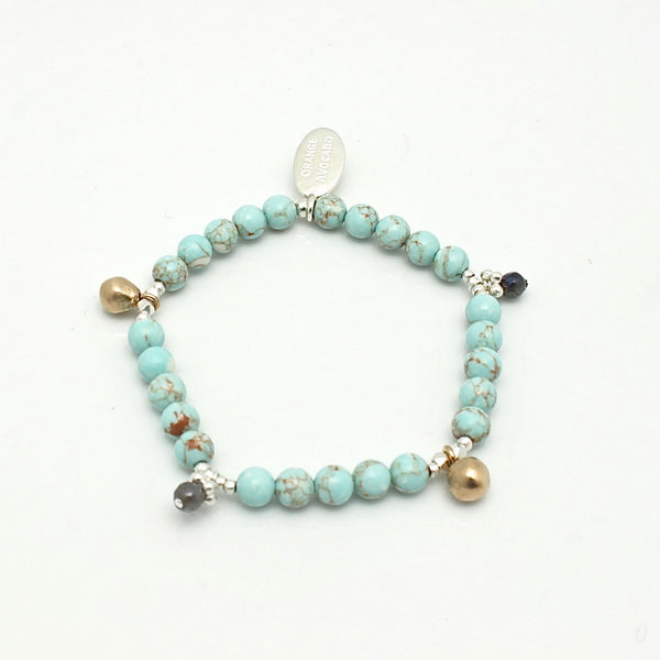 Athena Beaded Turquoise Labyrinth Long Necklace