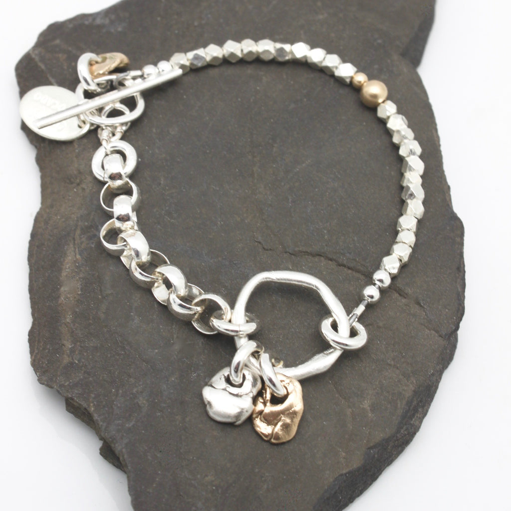 "Lava Form Collection: Una ""Pebbles"" Link Bracelet"