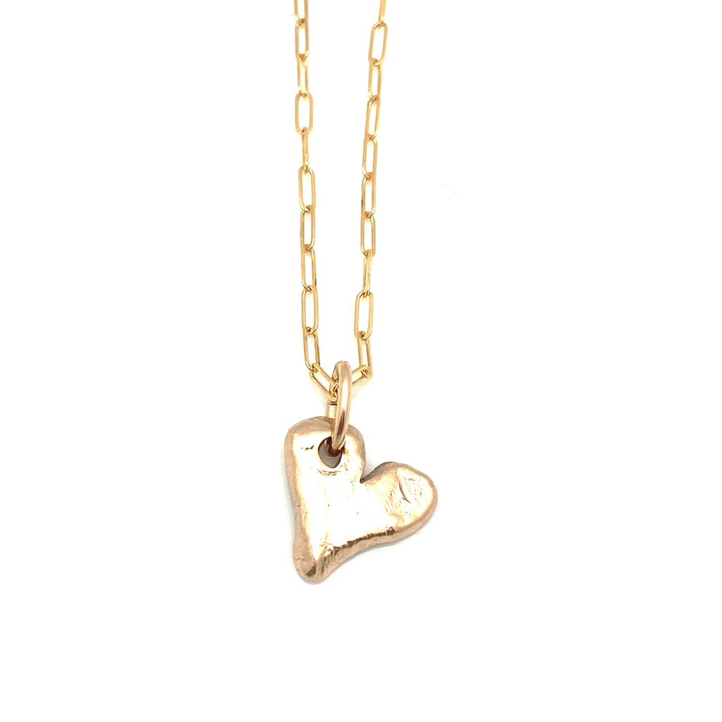GOLD Elements:  Bronze Heart & Gold  Orla Chain