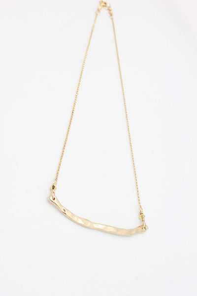 Pebble BRONZE Curve Necklace