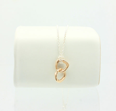 Entwined Petite Bronze Link Necklace