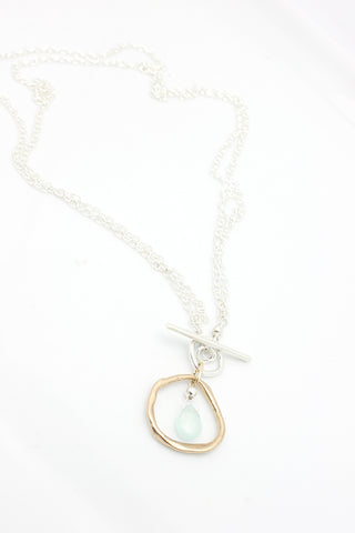 Capture Collection: Aqua Chalcedony 2 in 1 Necklace