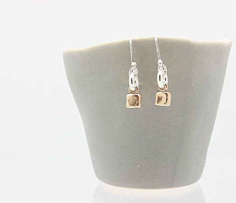 CUBIST Collection:  Bronze Petite Cube Earrings
