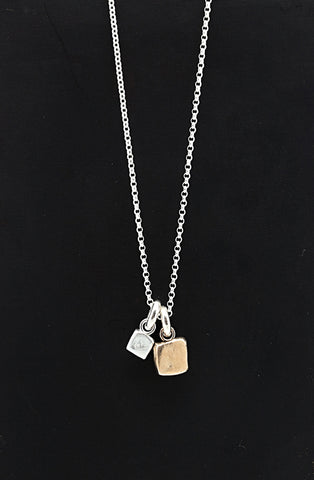 Cubist Collection:  2 Cube Short Necklace