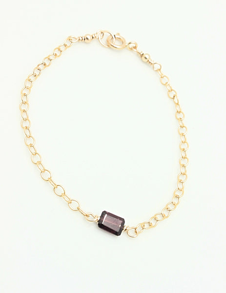 Cubist Collection:  Garnet Bracelet