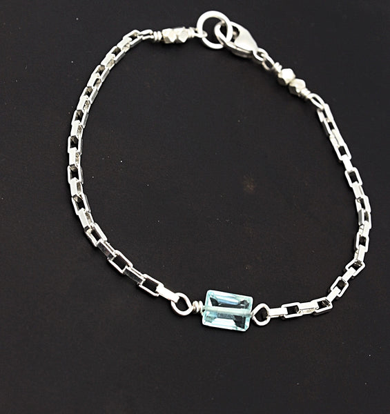 Cubist Collection: Blue Topaz Bracelet