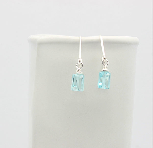 Cubist Collection: Blue Topaz Earrings