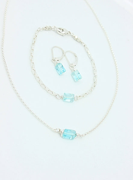 Cubist Collection: Blue Topaz Necklace