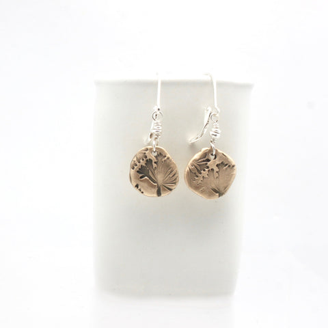 Dandelion Wish Bronze Earrings