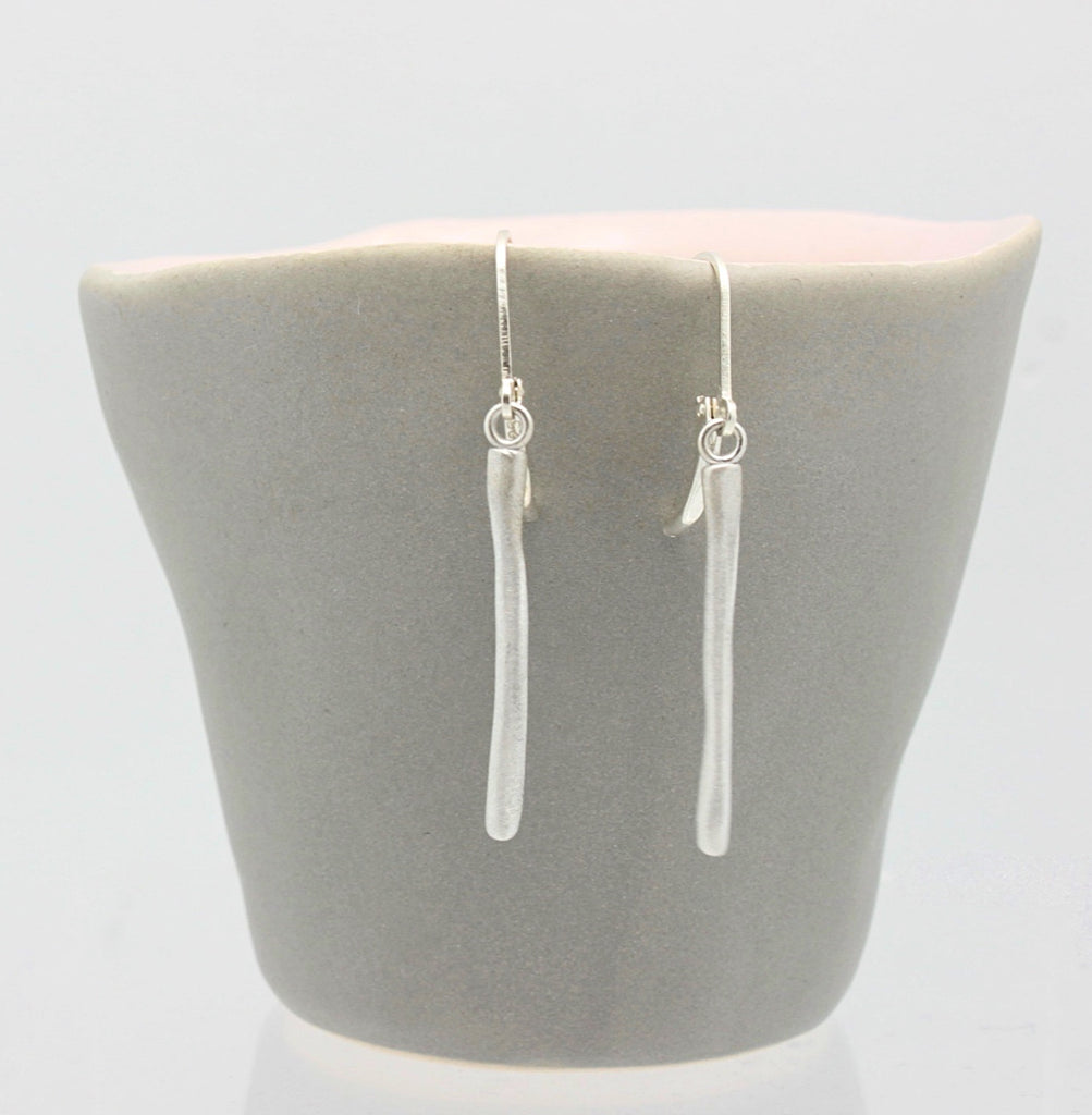 Arctic Blossoms: Icicle Fine Silver Earrings