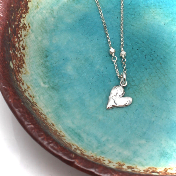 Imperfect Fine Silver Heart