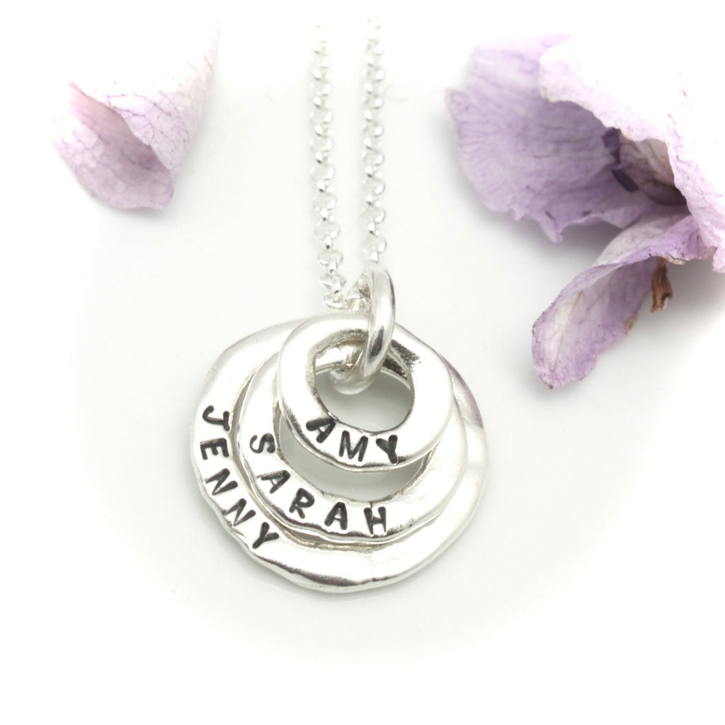 Three Ring Personalized Necklace