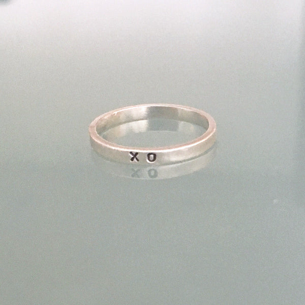 Sterling Silver 2mm Personalized Stacking Ring
