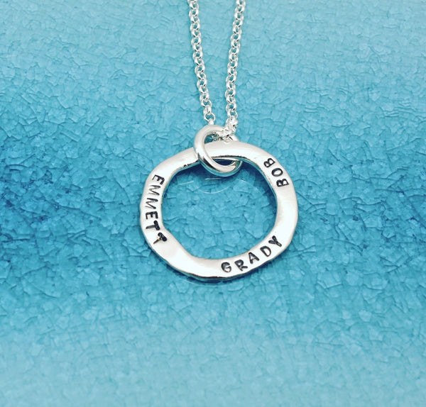 Single Ring Personalized Necklace