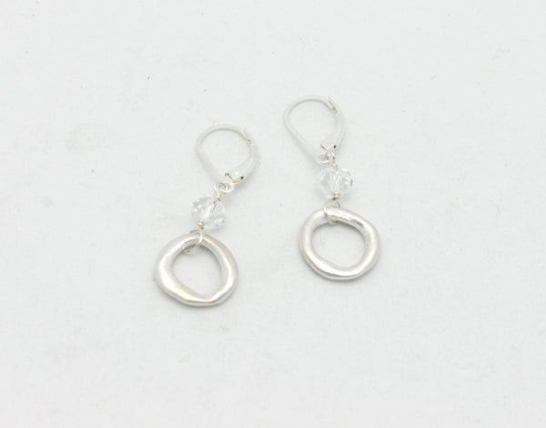 Chunky Fine Silver Links with Swarovski Crystals