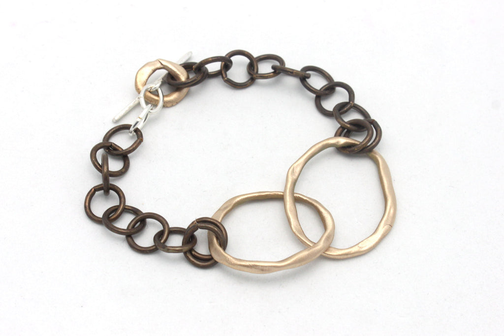 Entwined Bronze Large links & Brass chain