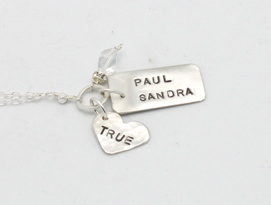 True & Two Name Personalized Necklace