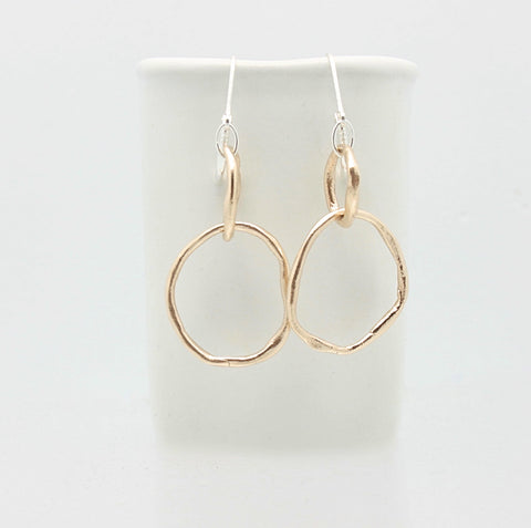 Entwined Bronze Medium Link Earrings