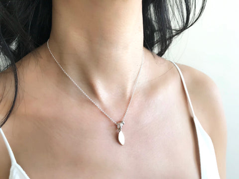 Athena Collection: Bronze Olive Leaf Short Necklace
