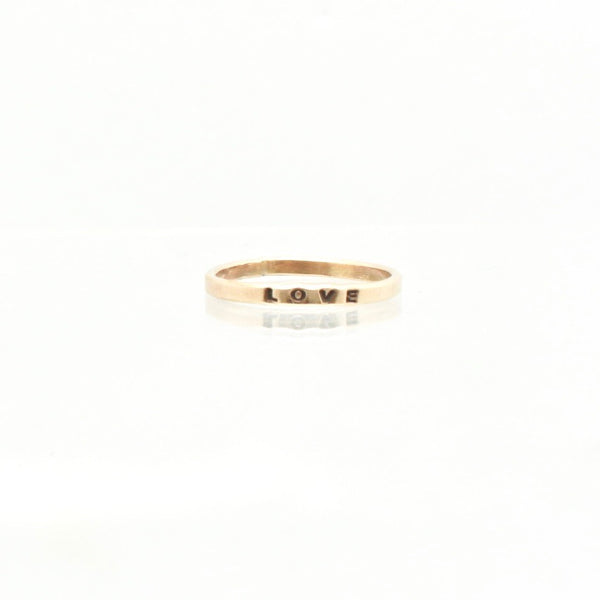 14 kt Gold Filled 2mm Personalized Ring