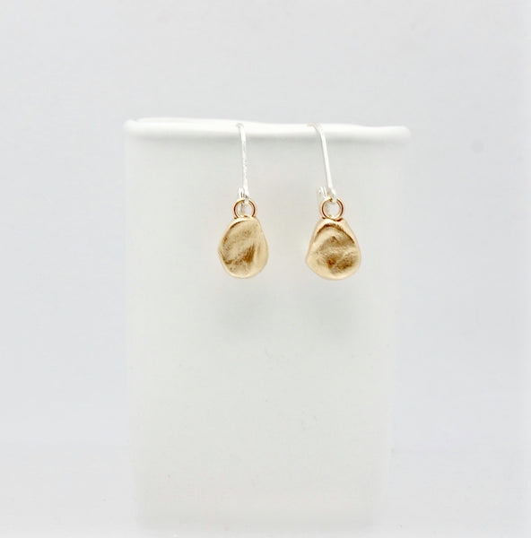Bronze Pebble Charm Earrings