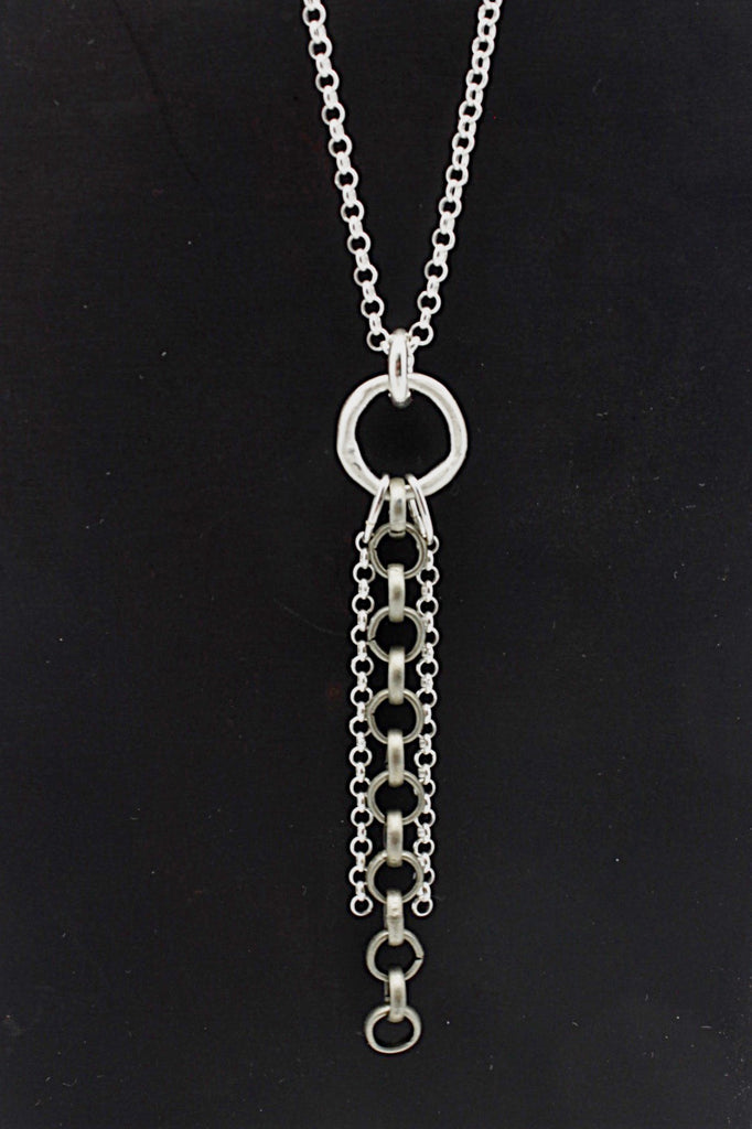 SCULPT Collection: Steel Lariat Necklace