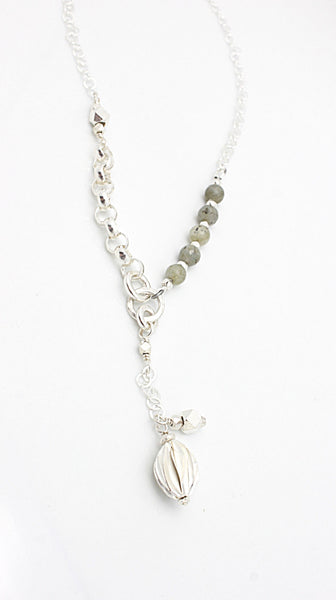 SCULPT Collection: Origami Lariat Long Necklace