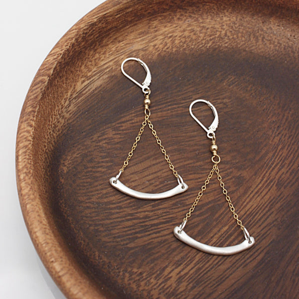 SCULPT Collection:  Fine Silver Balance Earrings
