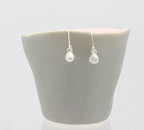 Nugget Earrings Fine silver