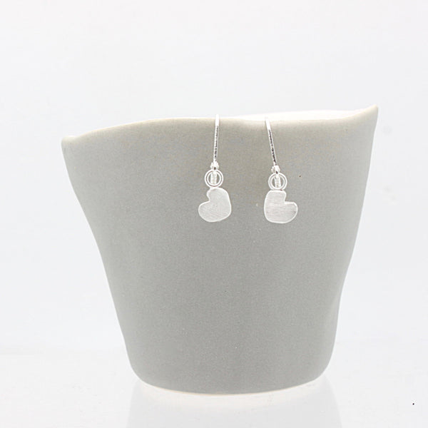 Fine Silver Petite Heart Earrings