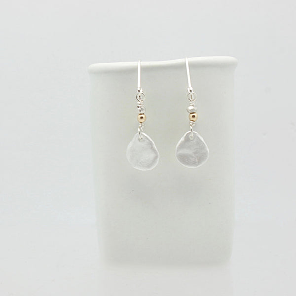Fine Silver Oval Nugget Earrings