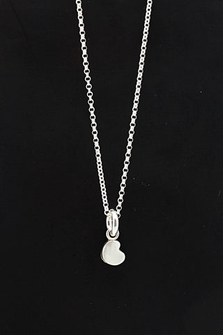 HEART Collection:  Petite Fine silver Heart Necklace