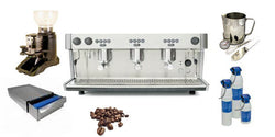 Great Value Commercial 3 group Espresso Machine Package Deal