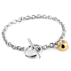 My Last Rolo Sterling Silver Diamond T-Bar Bracelet