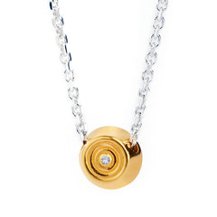 My Last Rolo Yellow Gold Vermeil Diamond Necklace
