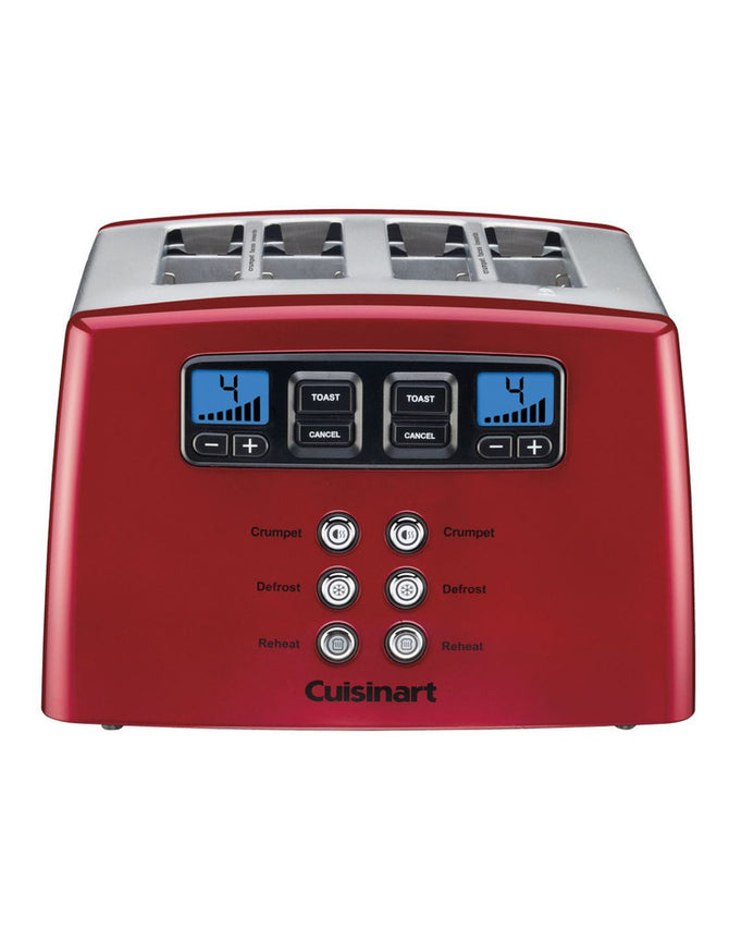 CUISINART TOUCH TO TOAST LEVERLESS 4 SLICE TOASTER RED CPT-440MRXA