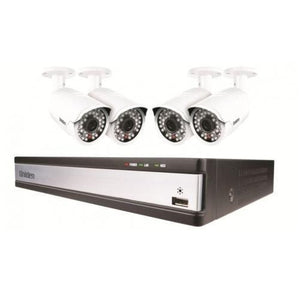 UNIDEN GDVR4A40 Guardian HD Digital Video Recorder with 4 Weatherproof^ Cameras