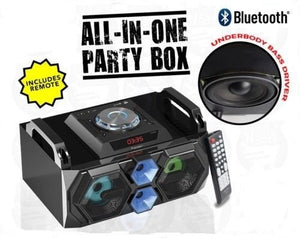 PRECISION AUDIO DYNAMIC PARTY BOX PORTABLE BLUETOOTH SPEAKER ALL-IN-1 REMOTE CONTROL