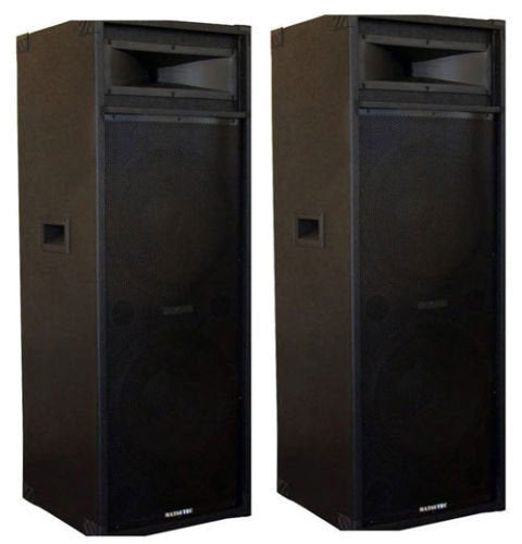 "MATSUTEC 2 X 15"" SPEAKERS 1600 WATT /DJ SPEAKERS BRAND NEW"