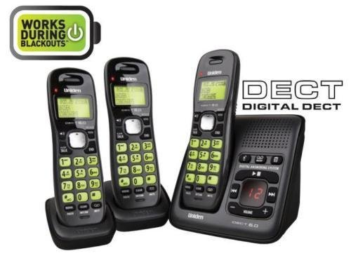 UNIDEN 1635+2 DIGITAL CORDLESS PHONE SYSTEM- WORKS DURING BLACKOUTS