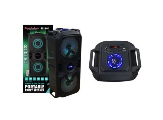 Precision Audio Portable Entertainment Party Speaker Bluetooth FM Radio USB Wireless ED601