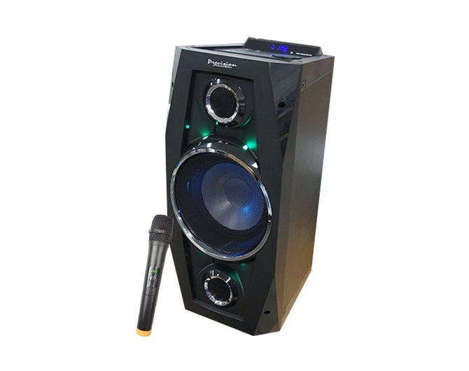Precision Audio Portable Entertainment ALL-IN-ONE Party Speaker-Bluetooth-Karaoke-Wireless Microphone-ED801