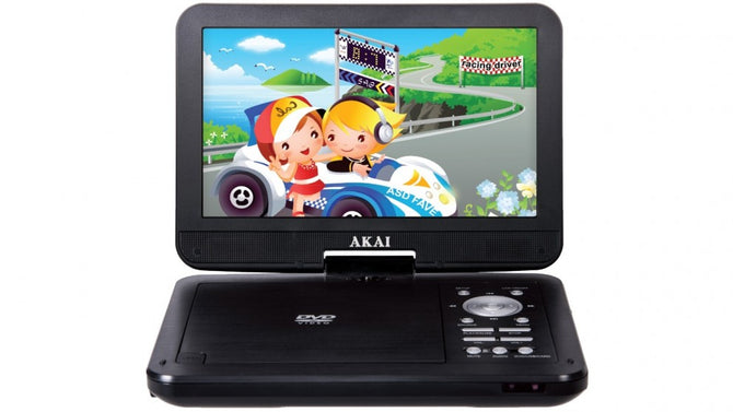"AKAI 10.1"" PORTABLE DVD PLAYER AKDVD10"