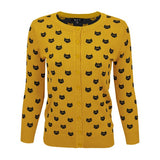 Cat Face Cardigan - Assorted Colours