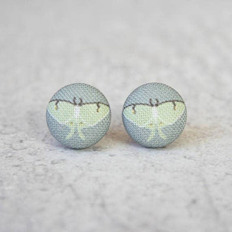 Luna Moth Cloth Earrings