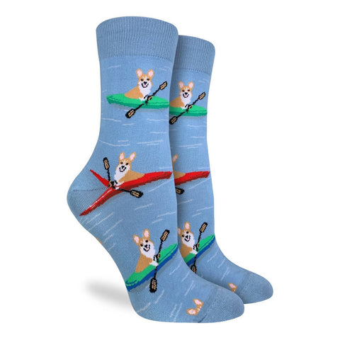 Kayaking Corgis Socks - Women's Sizes